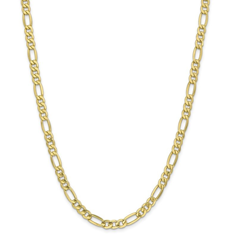 Quality Gold 10k 6.25mm Semi-Solid Figaro Chain