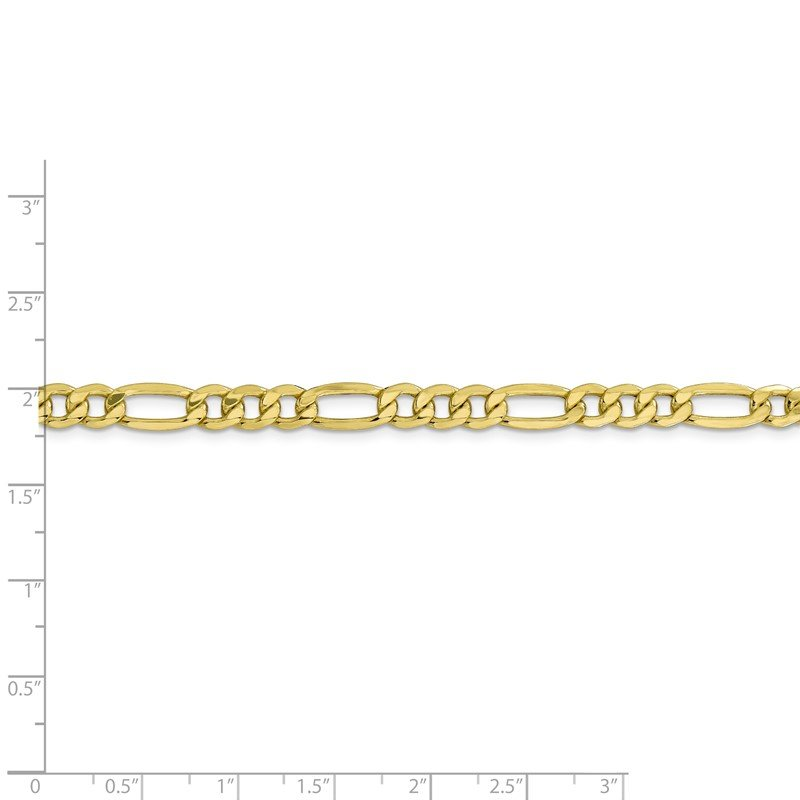 JC Sipe Essentials 10k 6.25mm Semi-Solid Figaro Chain