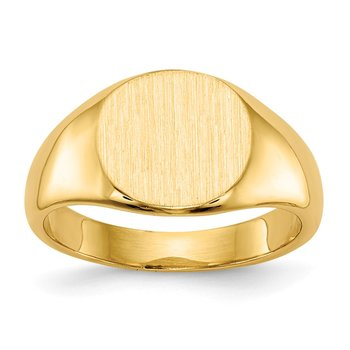14k 8.5x8.5mm Closed Back Child's Signet Ring