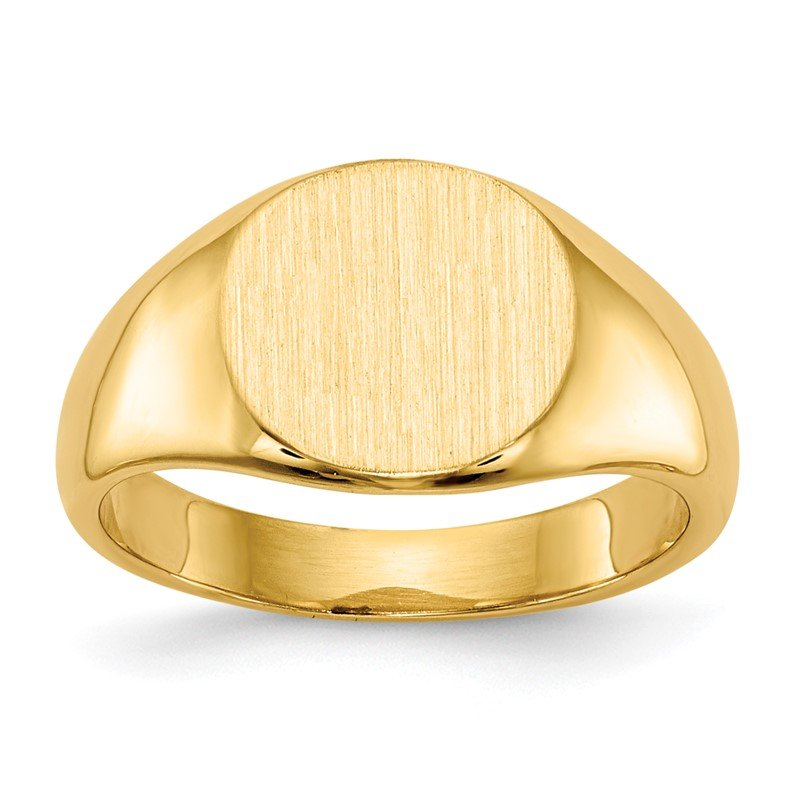 Quality Gold 14k 8.5x8.5mm Closed Back Child's Signet Ring