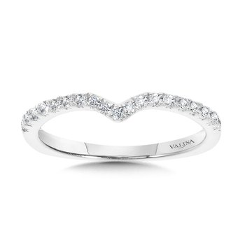 Chevron Diamond Wedding Band