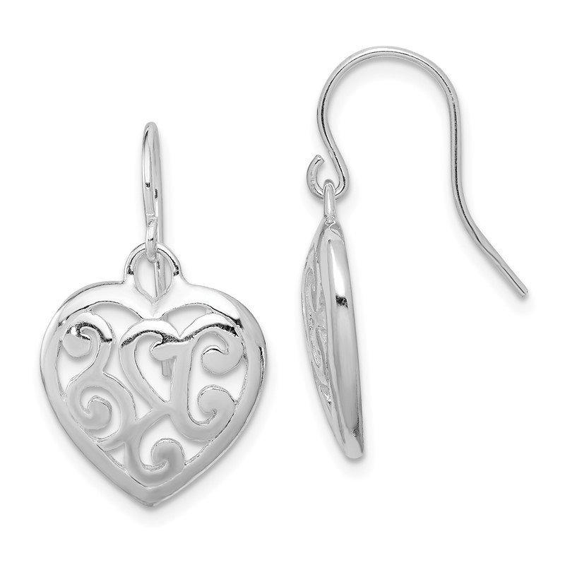Quality Gold Sterling Silver Rhodium Plated Shepherd Hook Earrings