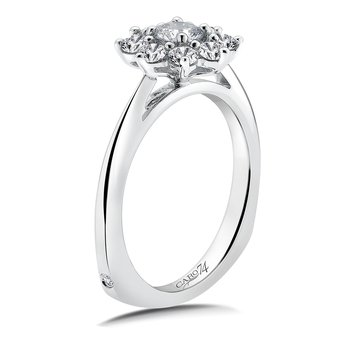 Halo Engagement Ring Mounting in 14K White Gold (.82 ct. tw.)