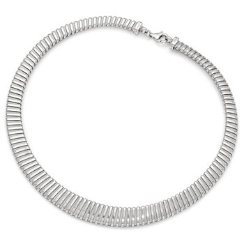 Leslie's Sterling Silver Polished and Textured Necklace