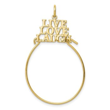 10K LIVE LOVE LAUGH Charm Holder