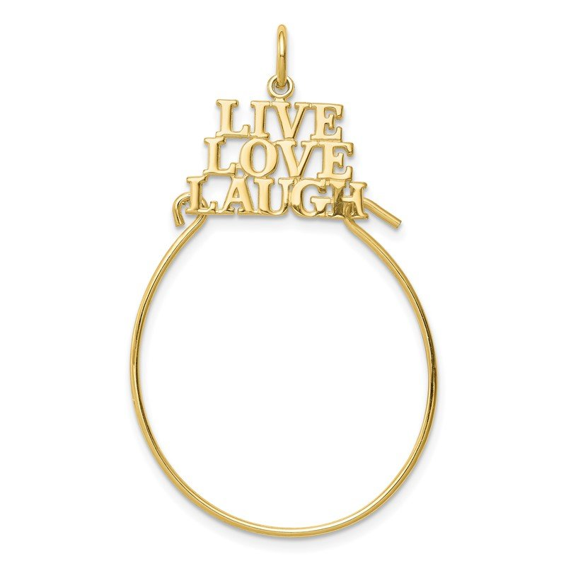 Quality Gold 10K LIVE LOVE LAUGH Charm Holder