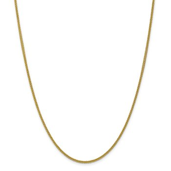 14k 2mm Semi-solid 3-Wire Wheat Chain