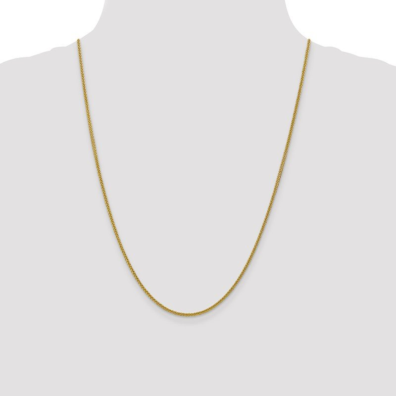 Quality Gold 14k 2mm Semi-solid 3-Wire Wheat Chain