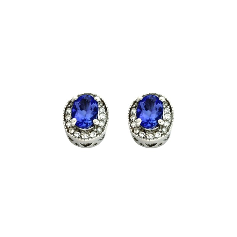 S. Kashi  & Sons Tanzanite & Diamond Earring