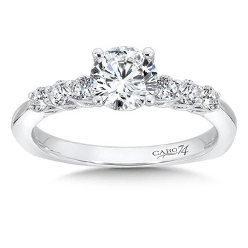 Engagement Ring With Side Stones in 14K White Gold (3/4ct. tw.)