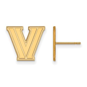 Gold Villanova University NCAA Earrings
