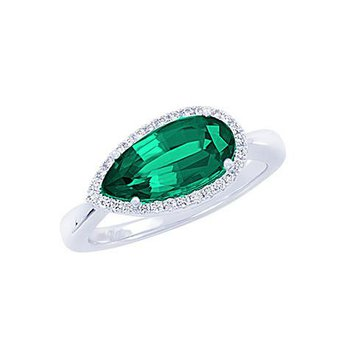 Emerald Ring-CR10427WEM