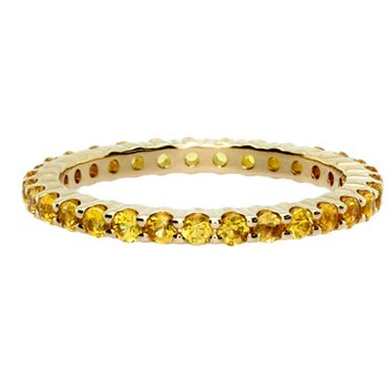 Yellow Sapphire Stackable Ring in Yellow Gold