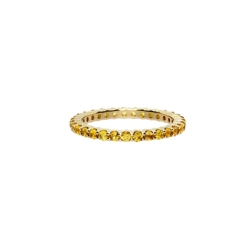 Just Perfect Yellow Sapphire Stackable Ring in Yellow Gold