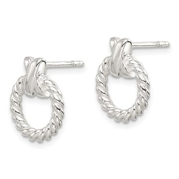 Sterling Silver Twisted X Post Earrings