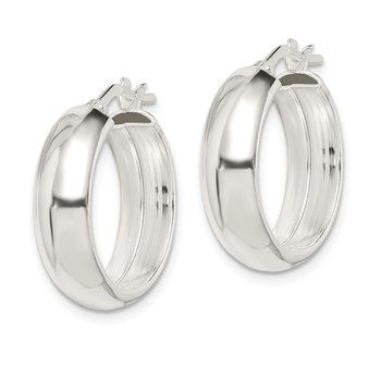 Sterling Silver 6.00mm Hoop Earrings