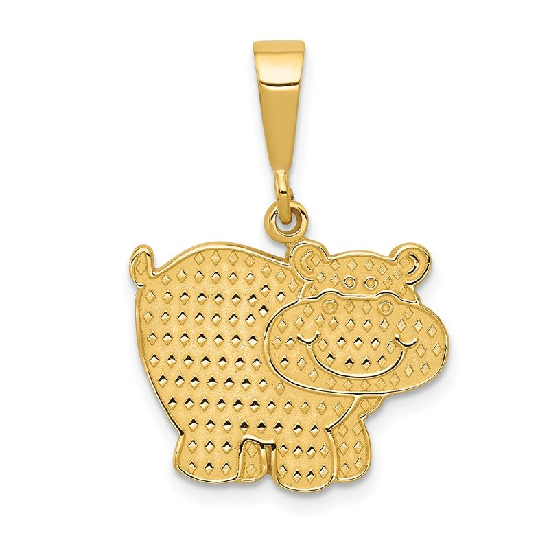 Fine Jewelry by JBD 14k Polished Hippo Pendant