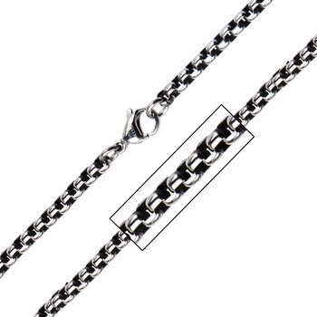 3.8mm Black Oxidized Bold Box Chain