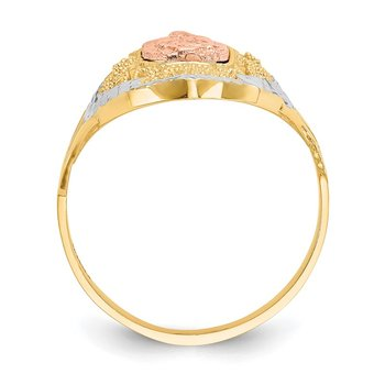 14K Two-tone w/White Rhodium Filigree Guadalupe Ring
