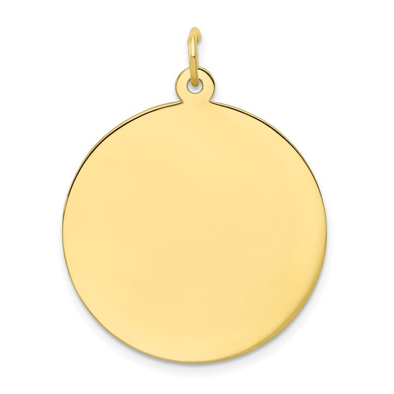 J.F. Kruse Signature Collection 10K Plain .018 Gauge Circular Engravable Disc Charm