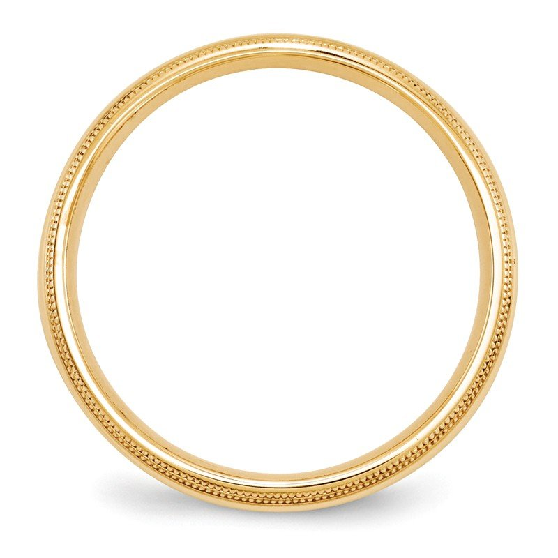 Quality Gold 14KY 5mm Double Milgrain Comfort Fit Band Size 10