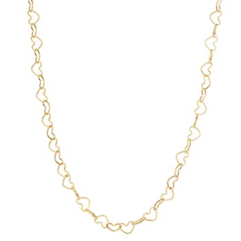 14K Gold Heart Link Necklace