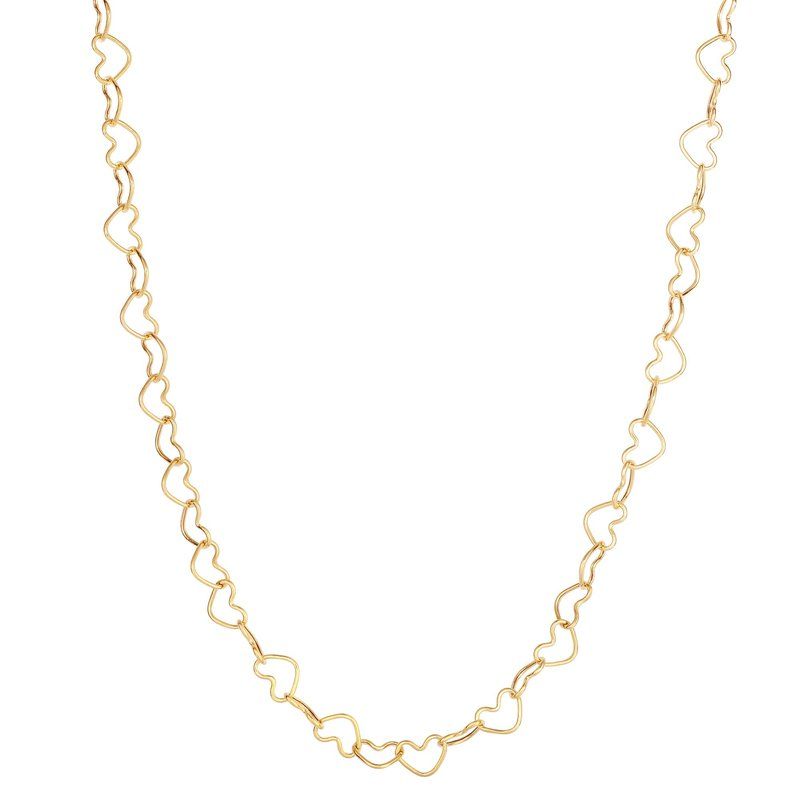 Royal Chain 14K Gold Heart Link Necklace