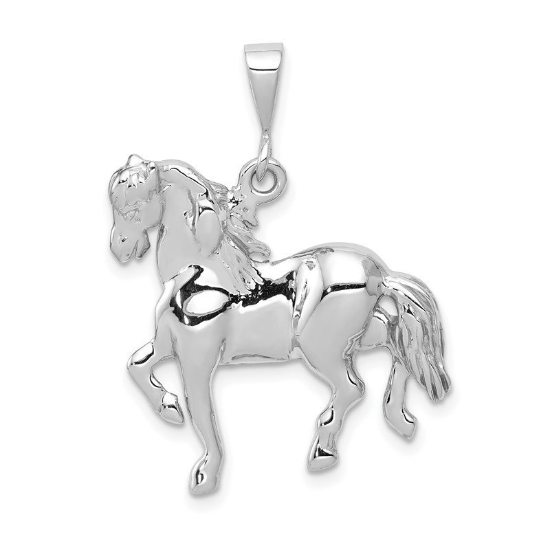 JC Sipe Essentials 14k White Gold Horse Charm
