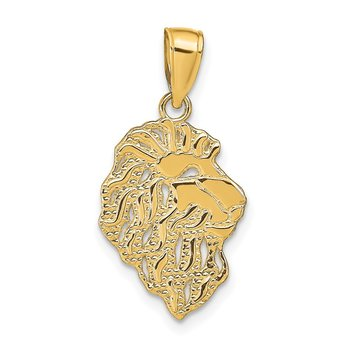 14K Lion Head Pendant