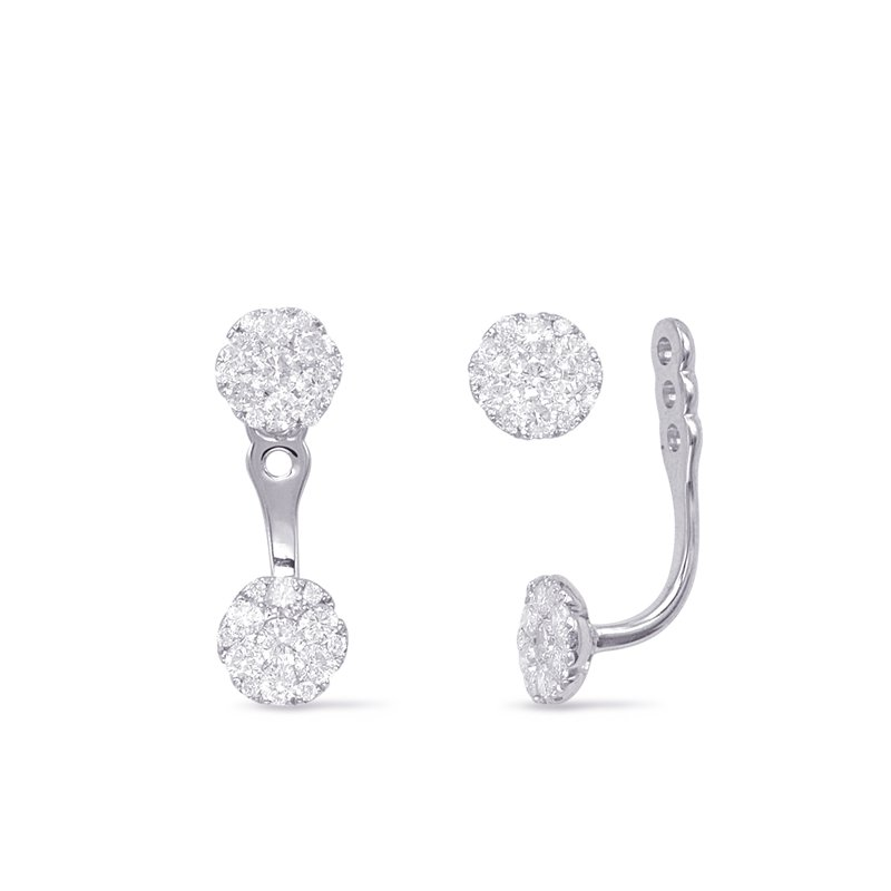 S. Kashi  & Sons White Gold Diamond Earring Jackets