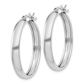 Sterling Silver 4mm x 30 Hoop Earrings