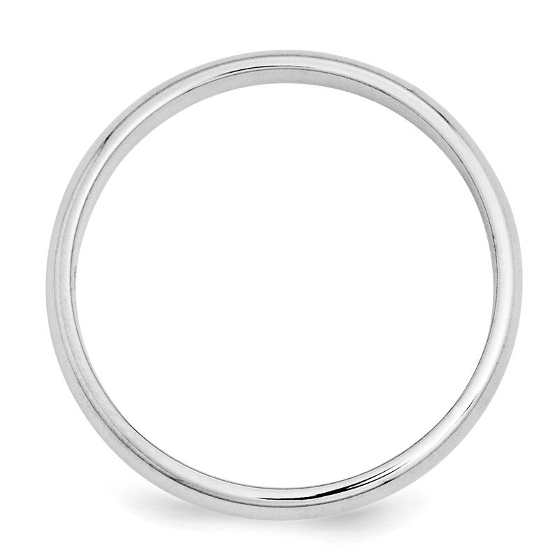 Quality Gold 14k White Gold 3mm Half-Round Band