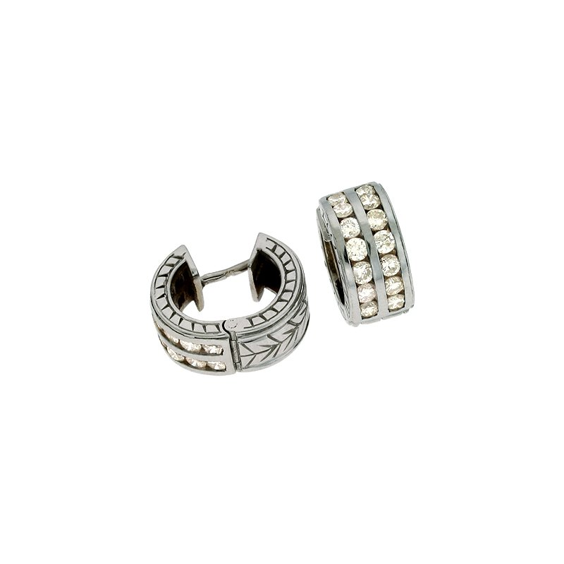 S. Kashi  & Sons White Gold Earring