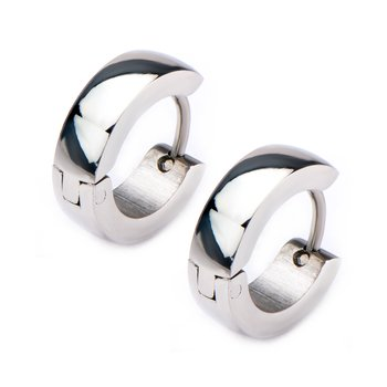9mm/4mm Inox Jewelry Stainless Steel Huggies Earrings