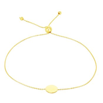 14K Gold Circle Friendship Bracelet