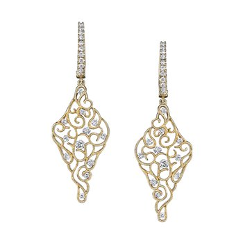 MARS Diamond Drop Earrings 0.89 ctw