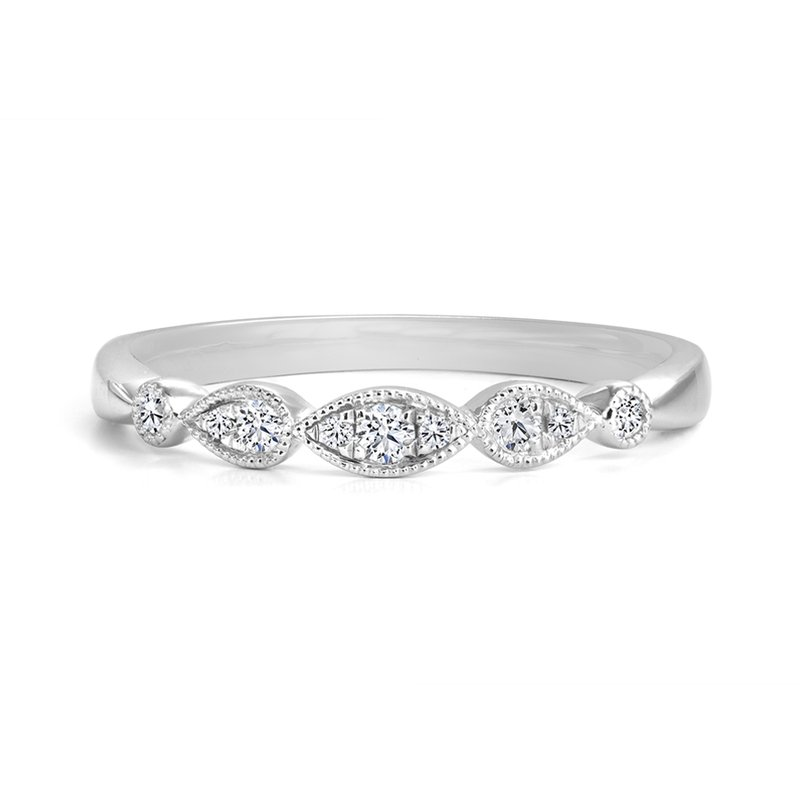 Canadian Rocks Diamond Wedding Band