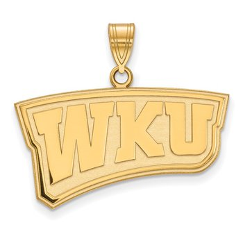 Gold-Plated Sterling Silver Western Kentucky University NCAA Pendant