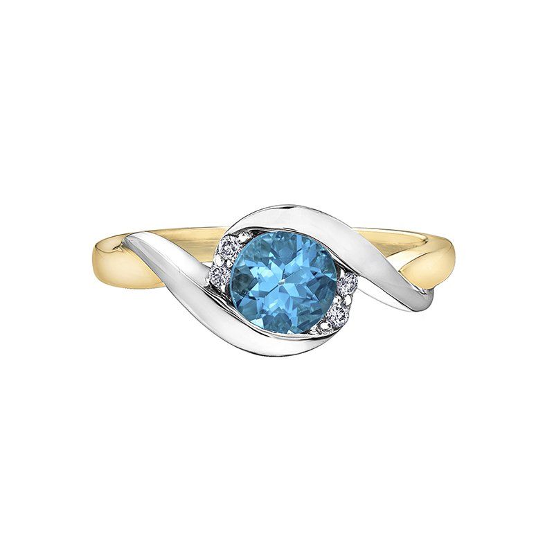 Timeless Beauty Blue Topaz Ladies Ring