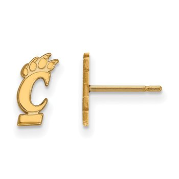 Gold-Plated Sterling Silver University of Cincinnati NCAA Earrings