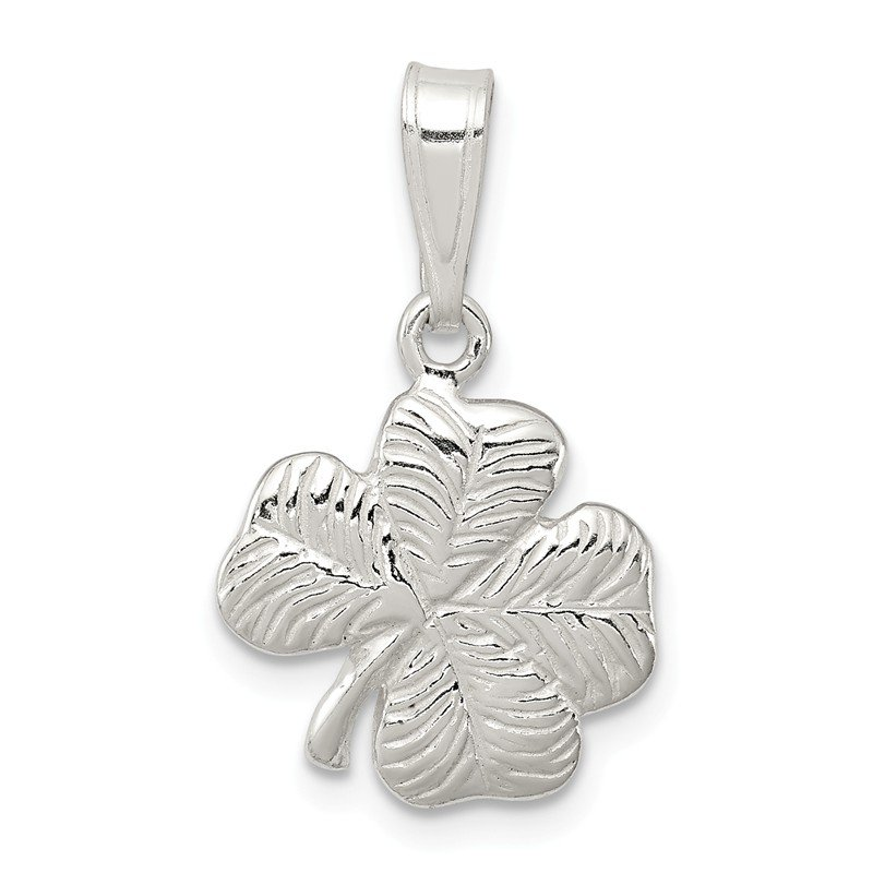Quality Gold Sterling Silver 4-leaf Clover Charm