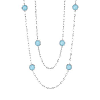 "38"" Raindrops Necklace featuring Neo-Turquoise"
