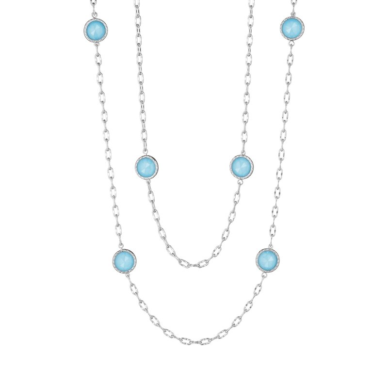 "Tacori Fashion 38"" Raindrops Necklace featuring Neo-Turquoise"