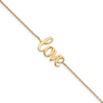 14K Polished LOVE Bracelet