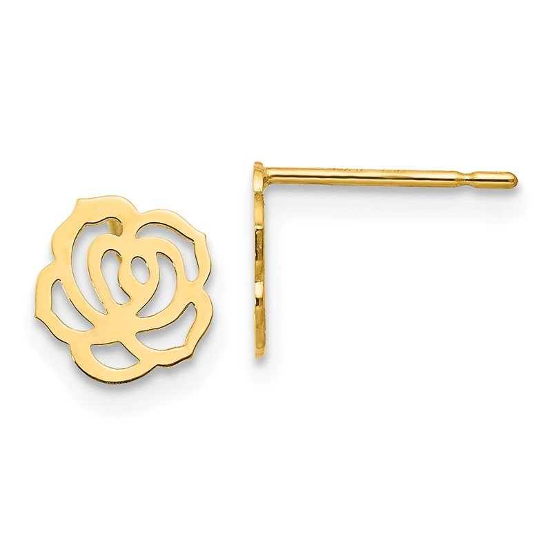Quality Gold 14k Madi K Children's Flower Post Earrings