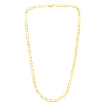 14K Gold 5.5mm Mariner Chain
