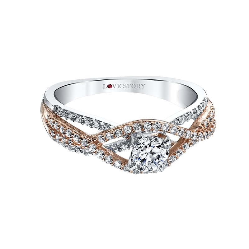 Love Story Diamonds Two Toned Diamond Engagement Ring by Love Story