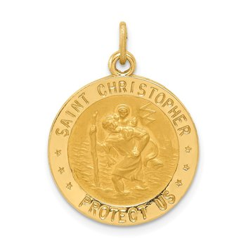 14k US Coast Guard Saint Christopher Medal Pendant