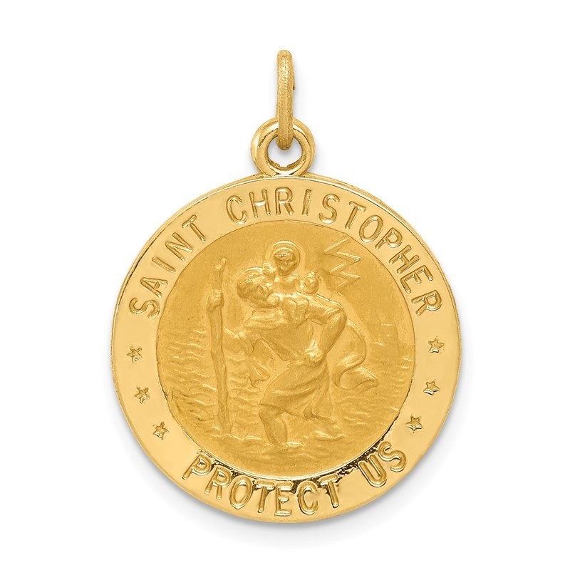Quality Gold 14k US Coast Guard Saint Christopher Medal Pendant