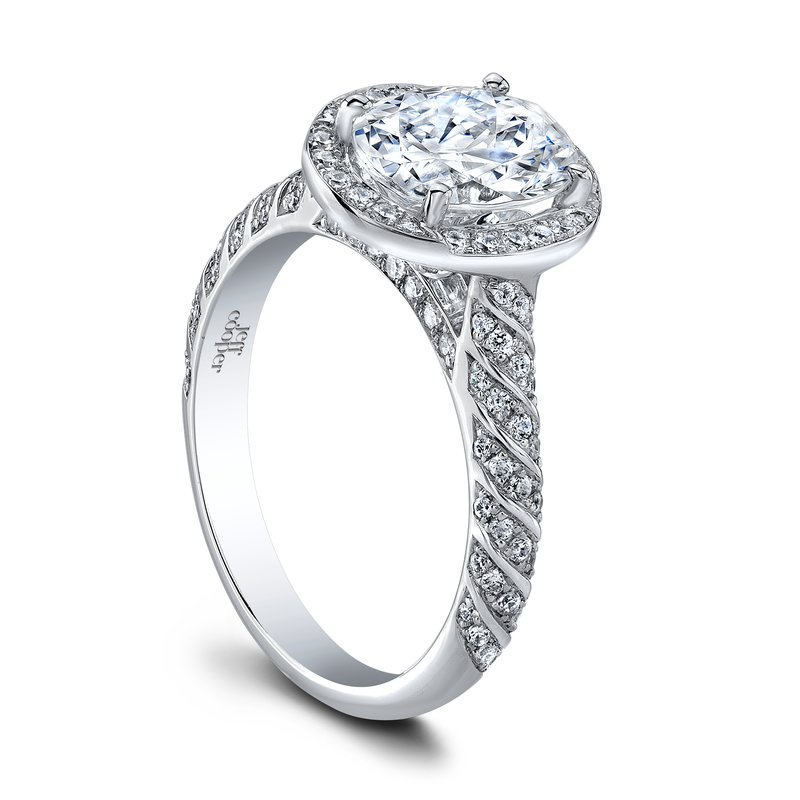 Jeff Cooper Lulu Oval Engagement Ring